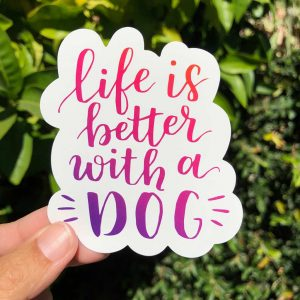 Dog Lover Die-Cut Stickers